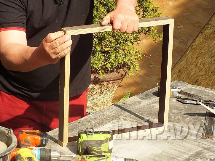 Příprava rámečku, formy, na výrobu dlaždic