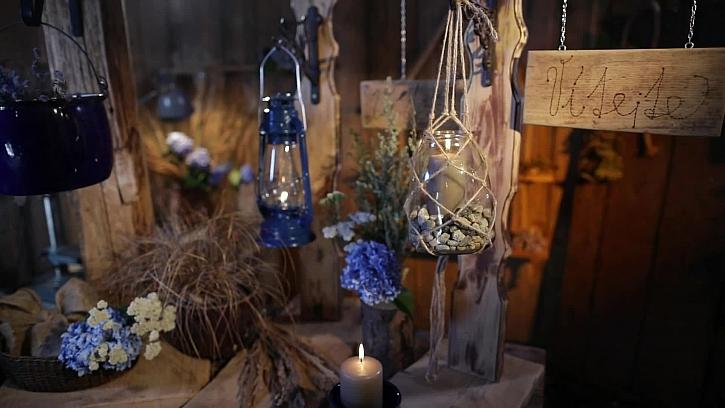 Romantická uvítací lucerna