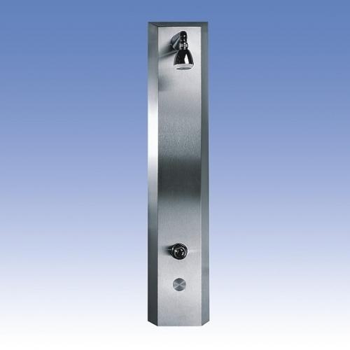 SANELA Nerezový sprchový panel SLSN 02PB piezo ovl.,směšovací bat,2 vody,bat.nap.
