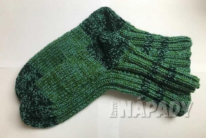 Ručně pletené ponožky: dokončení ponožky