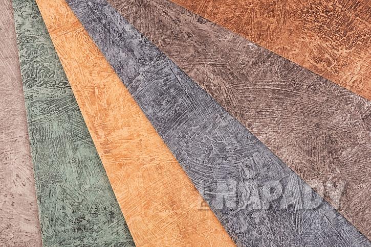Detail různých dekorů linolea