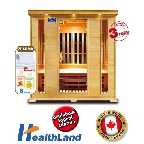 HEALTHLAND Infrasauna DeLuxe 4004 Carbon
