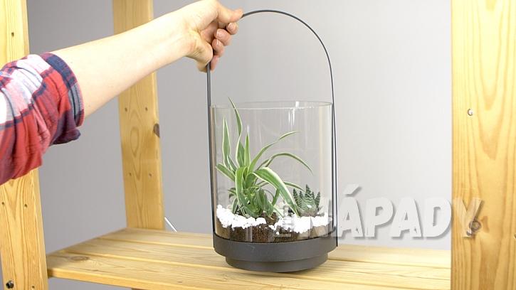 DIY skalka ve skle: mini skalku dejte vhodné místo