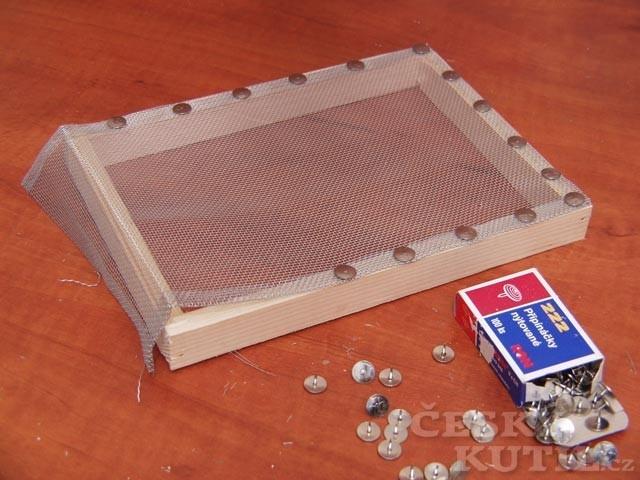 Návod na rámeček na výrobu ručního papíru