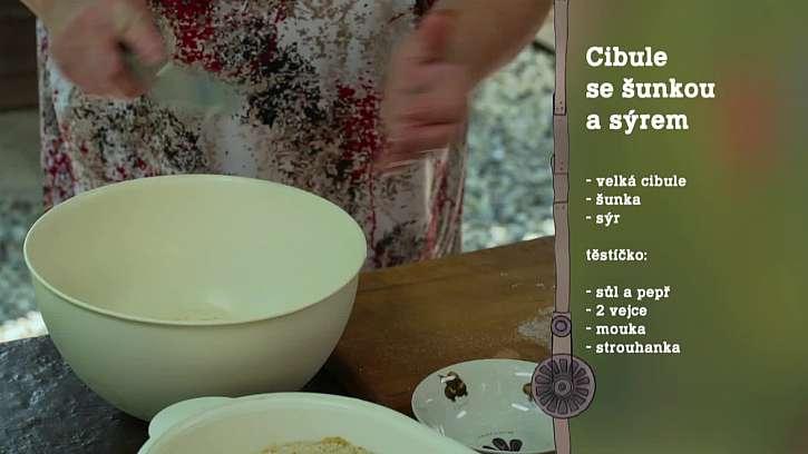 Recept na cibulové řízky.