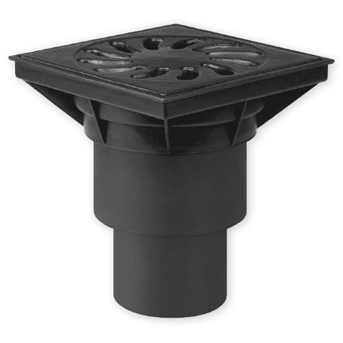 Kanalizační vpusť spodní D 160 (KVS160S-Li+z) suchá, litina + zámek