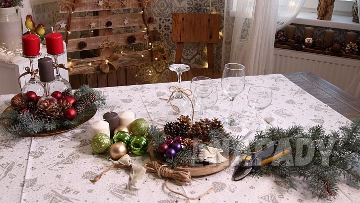 Co na vánoční svícen ze skleniček potřebujeme