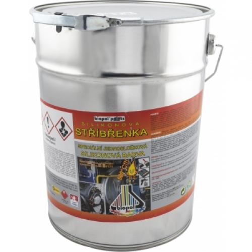 Biopol Paints Silikonová stříbřenka, žáruvzdorná do 500 °C, 8 kg