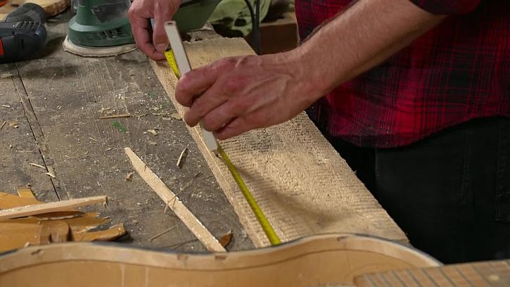 Měření dřevěné desky