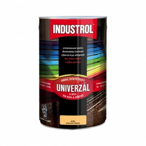Industrol S2013 univerzál lesk vrchní barva na kov a dřevo, 6100 středně krémová, 4 l