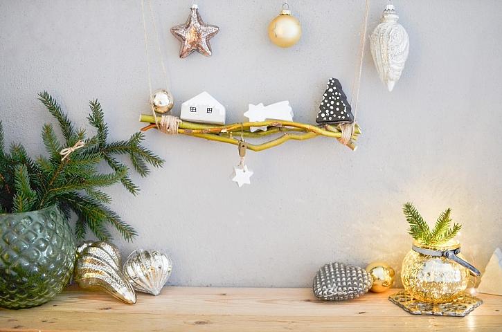 Vánoční dekorace mohou být pro milovníky minimalismu vyrobené třeba z betonu (Zdroj: PPG Deco Czech)