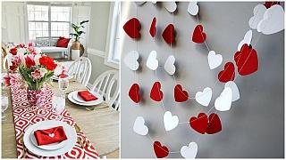Valentýnské drobnosti pro radost: Jednoduché dekorace za hubičku