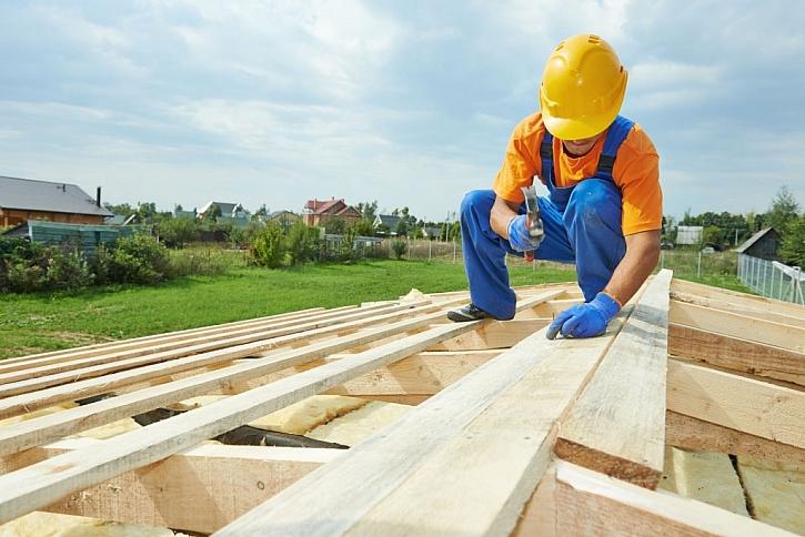 Výstavba pultové střechy