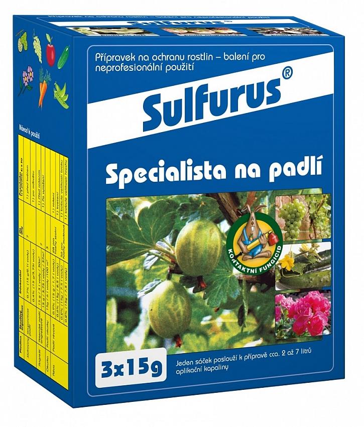 Spolehlivou ochranou před padlím na růžích je přípravek Sulfurus