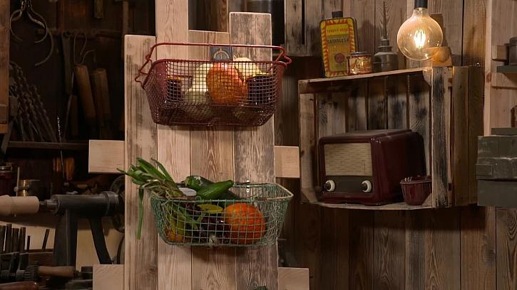 Výroba úložného prostoru ze starého košíku