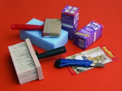Nástroje a vybavení pro tapetování