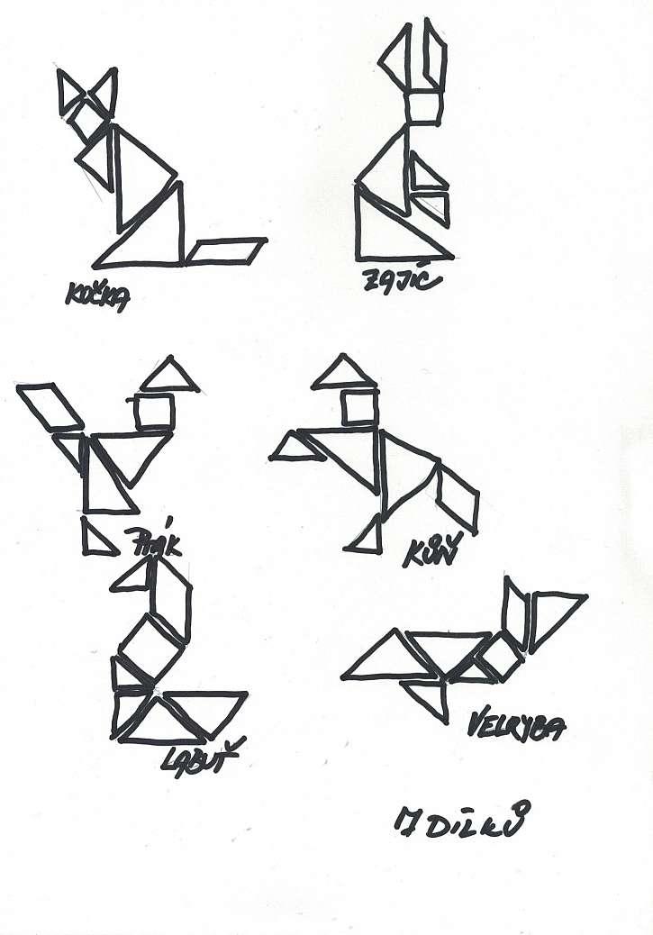 Schéma na tvorbu tangramů