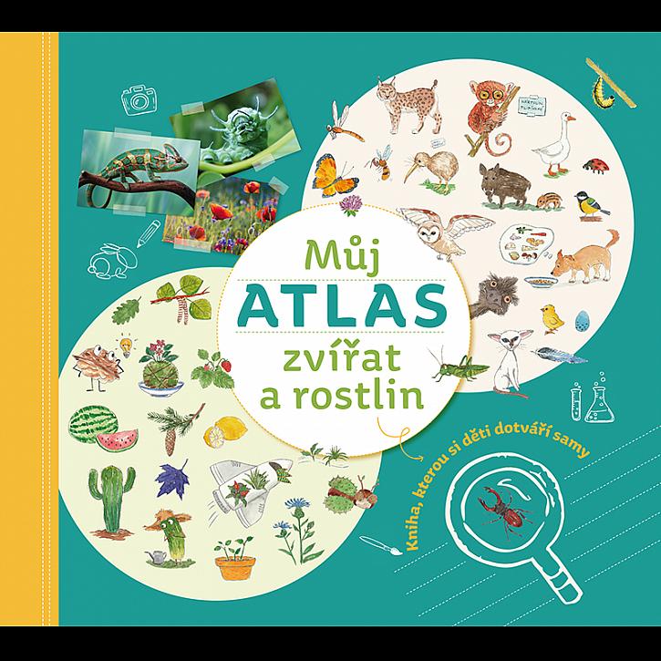 """Novou knihu """"Můj atlas zvířat a rostlin si děti dotvoří samy (Zdroj: Nakladatelství Familium)"""