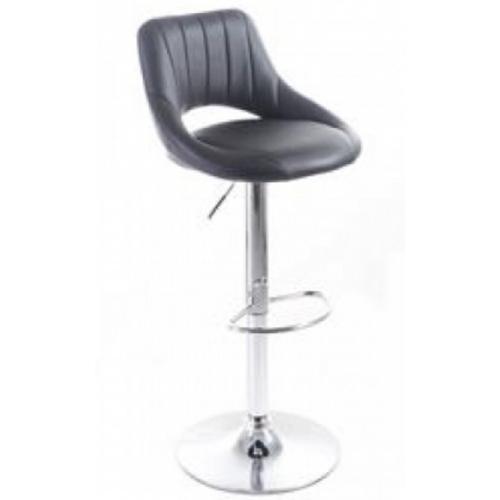 G21 Barová židle Aletra koženková, prošívaná černá