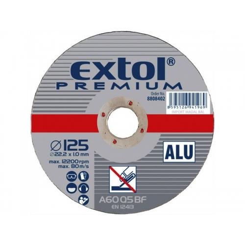 EXTOL PREMIUM kotouč řezný a brusný, řezný na hliník 125x1,0x22,2mm