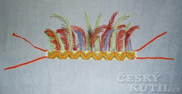 Výroba indiánské čelenky s peřím