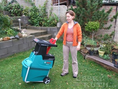S úklidem zahrady pomůže drtič