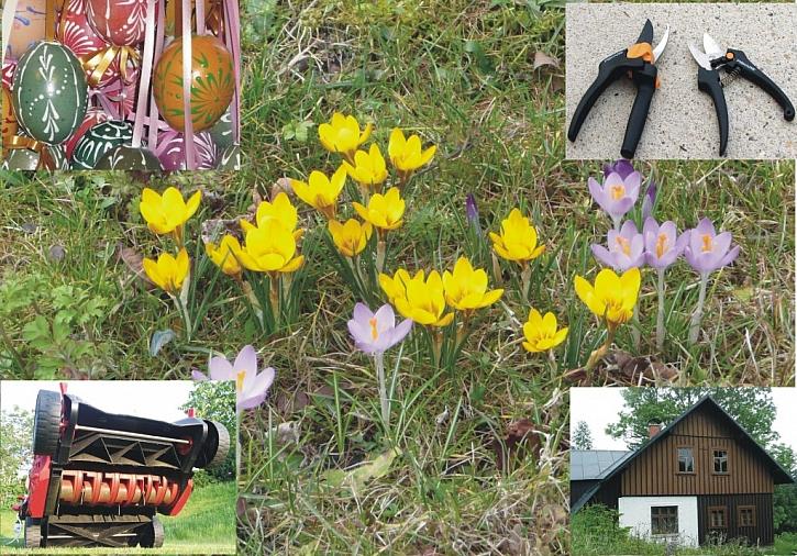 Březen je měsíc zahrady, zahradních strojů a příprav na Velikonoce