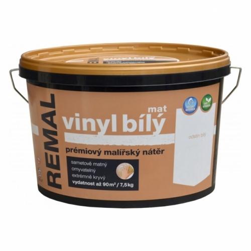Remal Vinyl mat prémiová malířská barva, omyvatelná, bílá, 7,5 kg