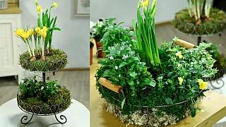 Netradiční celoroční věnce z živých květin: Vytvořte si ozdobu na stůl i na dveře