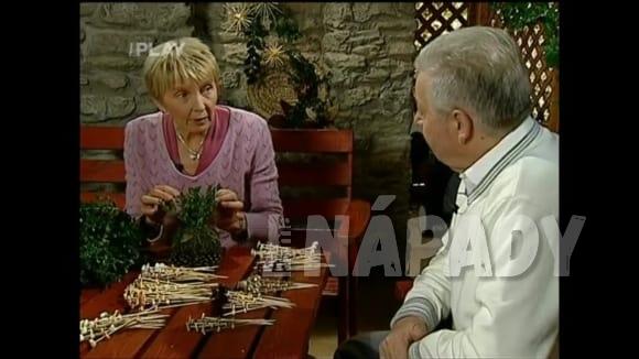 Výroba vánočního polazu na stůl