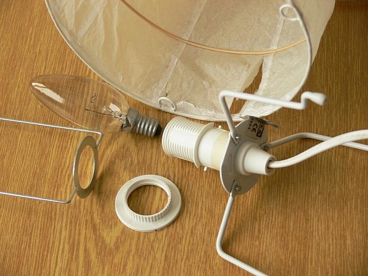 Návod na stínítko na lampičku z papíru