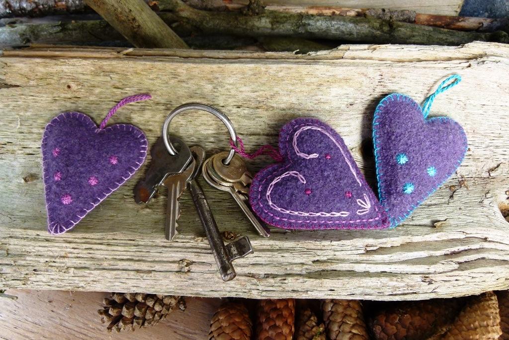 Vánoční dárek pro maminku, babičku i kamarádku: Srdíčková klíčenka