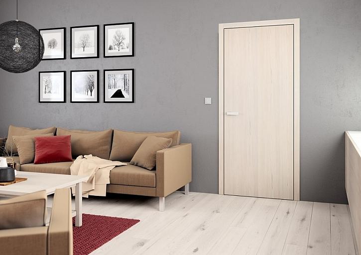 Interiérové dveře ELEGANT 10, dekor svislý, CPL borovice bílá v ceně 3 090 Kč bez DPH (bez kování a zárubně).