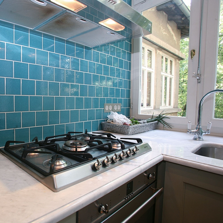 Obkladačky v kuchyni nemusí být pouze keramické, vhodné jsou i jiné speciální materiály (Zdroj: Depositphotos)