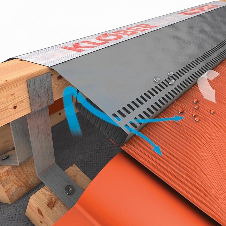 Kanálová konstrukce nového větracího pásu od HPI-CZ je jistotou intenzivního odvětrání hřebene