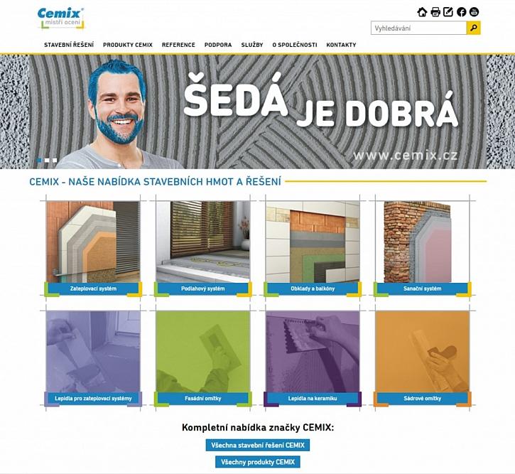 Nový web a kalkulátory Cemix - vše co potřebujete vědět o zateplení, omítkách, maltách, sanacích a stavební chemii