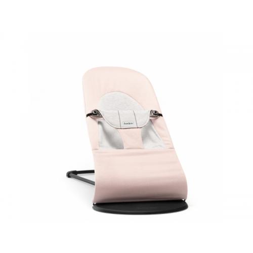 Baby Björn Lehátko Balance Soft Light Pink Grey cotton jersey