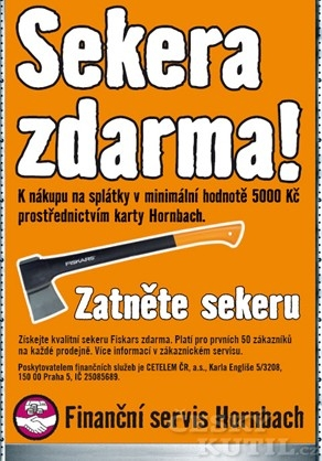 S kobrandovanou kartou Hornbach dárek pro prvních 300 zákazníků
