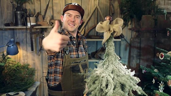 Výroba stromečku z větviček vánočního stromečku je jednoduchá