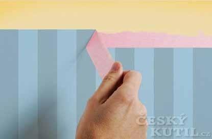 Rovné a přesné hrany – papírové maskovací pásky pro domácí použití