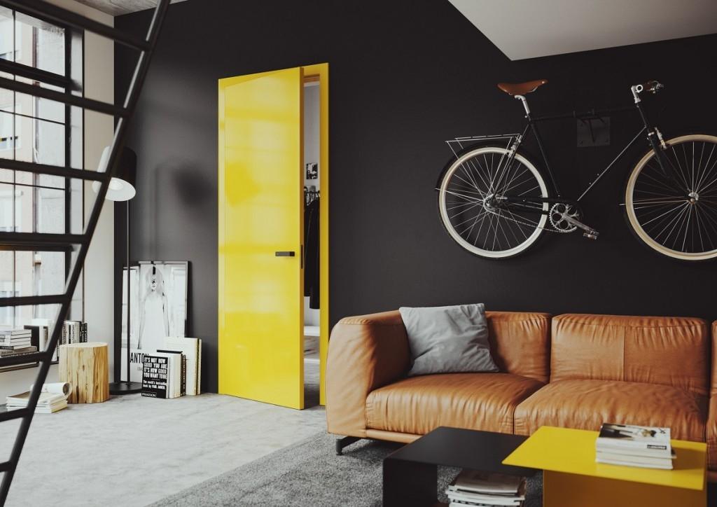 Hravost a originalitu dodají interiéru barevné dveře