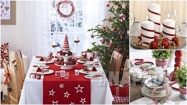 Vánoce podle tradice: nazdobená jídelna
