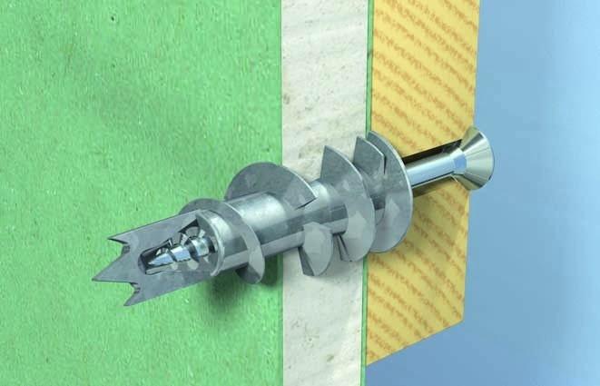 Hmoždinka GKM pro upevnění obrázků, schránek na klíče či poliček na kořenky v sádrokartonu