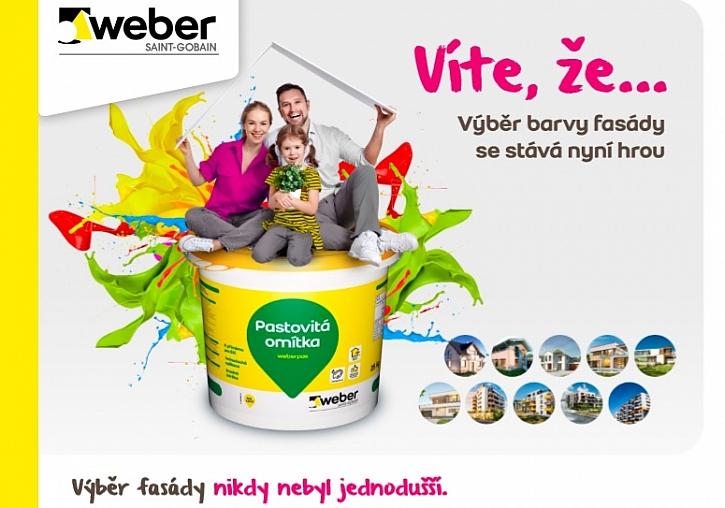 Výběr barvy fasády s WEBER se stává hrou - pojďte si zahrát (Zdroj: Weber)