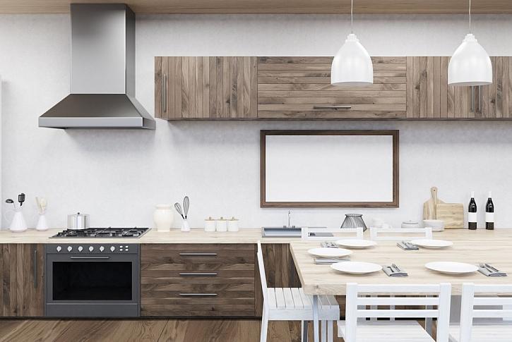 V kuchyni můžete použít omyvatelnou barvu na stěnu nad kuchyňskou linkou