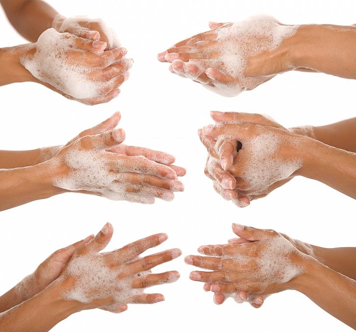 Postup mytí rukou