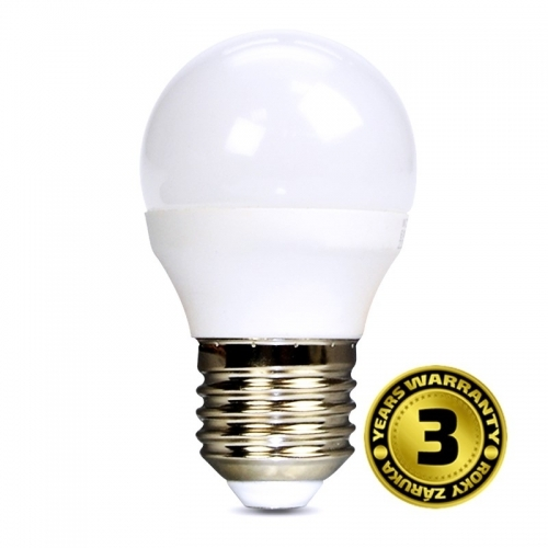 LED žárovka, miniglobe, 6W, E27, 4000K, 450lm