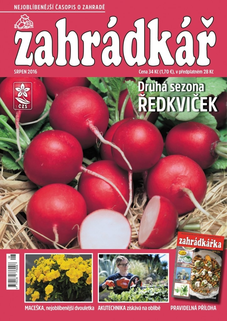 Srpnový časopis Zahrádkář na stáncích