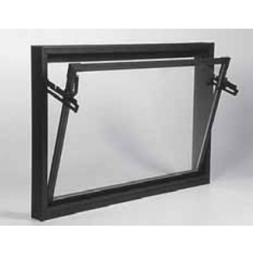 ACO sklepní celoplastové okno s IZO sklem 100 x 90 cm hnědá