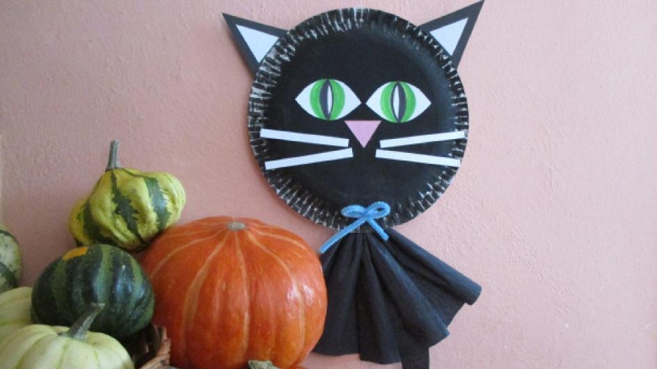 Černá kočička: Halloweenské strašidýlko spíchnete s dětmi za pár minut